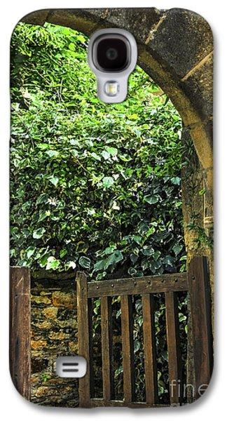Ancient Galaxy S4 Cases - Garden gate in Sarlat Galaxy S4 Case by Elena Elisseeva