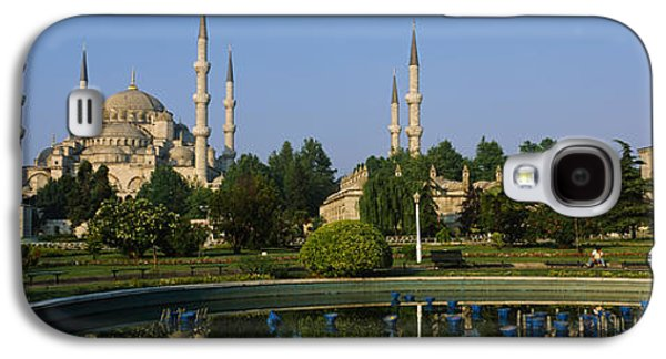 Garden Scene Galaxy S4 Cases - Garden In Front Of A Mosque, Blue Galaxy S4 Case by Panoramic Images
