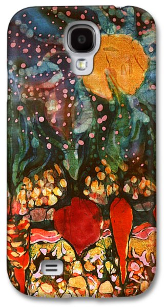 Food And Beverage Tapestries - Textiles Galaxy S4 Cases - Garden in Moonlight Galaxy S4 Case by Carol Law Conklin