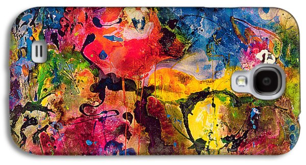 Drips Paintings Galaxy S4 Cases - Garden of Heavenly and Earthly Delights Galaxy S4 Case by Jane Deakin
