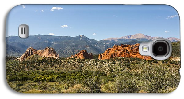 Green Galaxy S4 Cases - Garden Of The Gods And Pikes Peak - Colorado Springs Galaxy S4 Case by Brian Harig