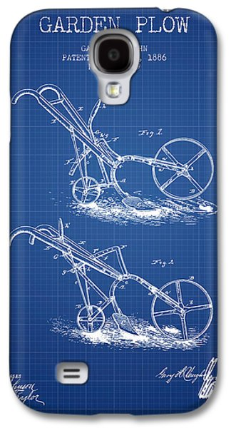 Plow Galaxy S4 Cases - Garden Plow Patent from 1886 - Blueprint Galaxy S4 Case by Aged Pixel