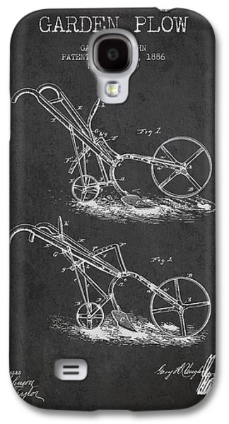 Plow Galaxy S4 Cases - Garden Plow Patent from 1886 - Dark Galaxy S4 Case by Aged Pixel
