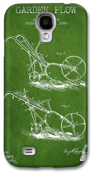 Plow Galaxy S4 Cases - Garden Plow Patent from 1886 - Green Galaxy S4 Case by Aged Pixel