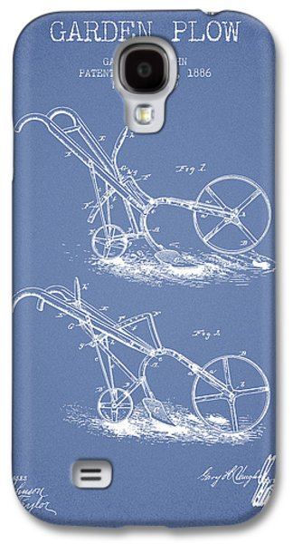 Plow Galaxy S4 Cases - Garden Plow Patent from 1886 - Light Blue Galaxy S4 Case by Aged Pixel