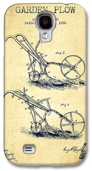 Plow Galaxy S4 Cases - Garden Plow Patent from 1886 - Vintage Galaxy S4 Case by Aged Pixel