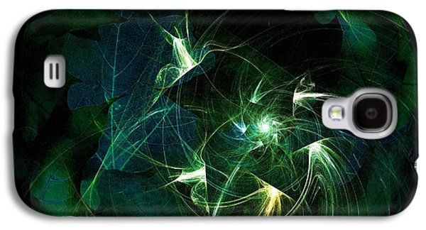 Recently Sold -  - Abstract Digital Digital Galaxy S4 Cases - Garden Sprites Come at Night Galaxy S4 Case by Elizabeth McTaggart
