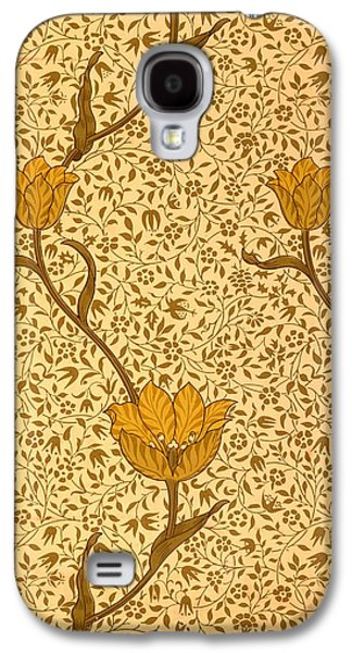 Floral Tapestries - Textiles Galaxy S4 Cases - Garden Tulip Wallpaper Design Galaxy S4 Case by William Morris