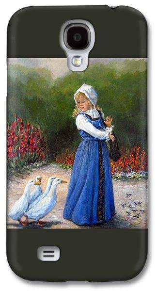 Gladiolas Paintings Galaxy S4 Cases - Garden Visitors Galaxy S4 Case by Donna Tucker