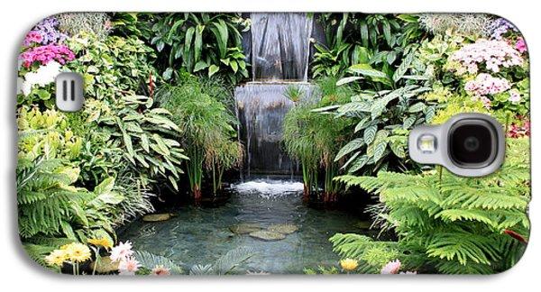 Garden Photographs Galaxy S4 Cases - Garden Waterfall Galaxy S4 Case by Carol Groenen