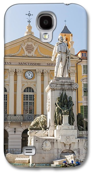 Landmarks Photographs Galaxy S4 Cases - Garibaldi monument in Nice France Galaxy S4 Case by Elena Elisseeva
