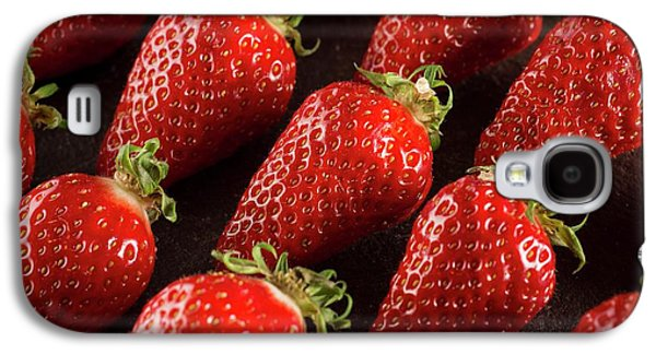 Gariguette Strawberries Galaxy S4 Case by Aberration Films Ltd