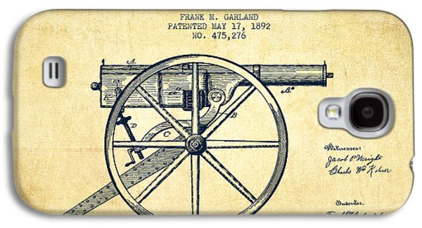 Machine Galaxy S4 Cases - Garland Machine Gun Patent Drawing from 1892 - Vintage Galaxy S4 Case by Aged Pixel