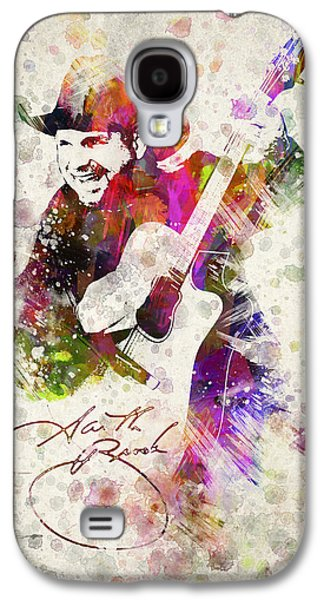 Vocal Galaxy S4 Cases - Garth Brooks Galaxy S4 Case by Aged Pixel
