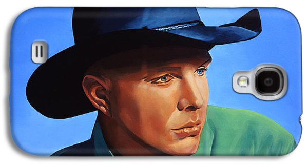 Fence Paintings Galaxy S4 Cases - Garth Brooks Galaxy S4 Case by Paul  Meijering