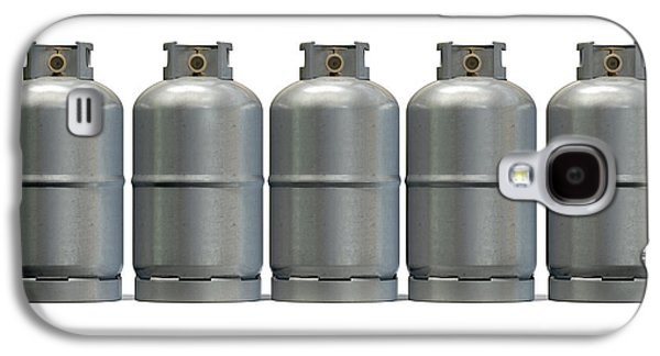 Useful Galaxy S4 Cases - Gas Cylinder Row Galaxy S4 Case by Allan Swart