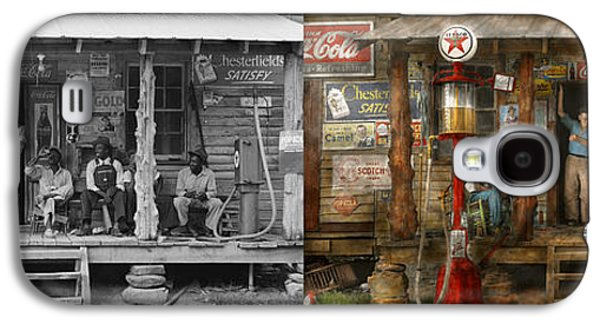 African-american Galaxy S4 Cases - Gas Station - Sunday afternoon - 1939 - Side by side Galaxy S4 Case by Mike Savad