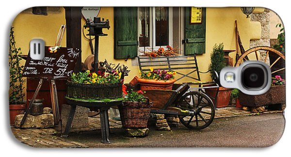 Wine Cart Galaxy S4 Cases - Gast Haus Display in Rothenburg Germany Galaxy S4 Case by Greg Matchick