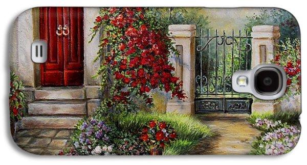 Garden Scene Galaxy S4 Cases - Gate to the hidden Garden  Galaxy S4 Case by Gina Femrite