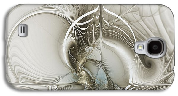 Mathematical Design Galaxy S4 Cases - Gateway to Heaven-Fractal Art Galaxy S4 Case by Karin Kuhlmann