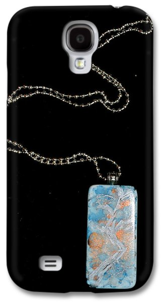 Abstract Jewelry Galaxy S4 Cases - Gathering Branch Domino Pendant Galaxy S4 Case by Beverley Harper Tinsley