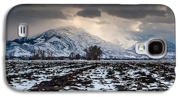 Winter Storm Photographs Galaxy S4 Cases - Gathering Winter Storm - Utah Valley Galaxy S4 Case by Gary Whitton