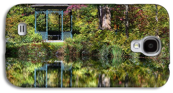 Nature Center Pond Galaxy S4 Cases - Gazebo Retreat Galaxy S4 Case by John Greim