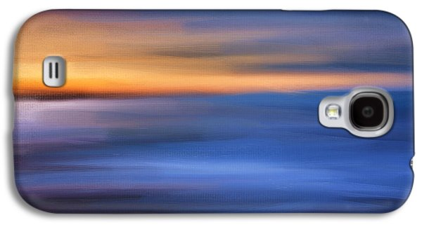 Sunset Abstract Digital Galaxy S4 Cases - Gazing The Horizon Galaxy S4 Case by Lourry Legarde