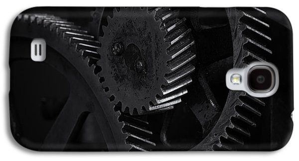 Mechanism Galaxy S4 Cases - Gears in B/W 1 Galaxy S4 Case by Terry Leasa