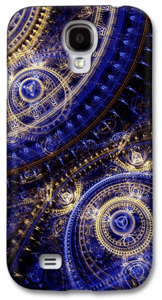 Abstract Digital Galaxy S4 Cases - Gears Of Time Galaxy S4 Case by Martin Capek