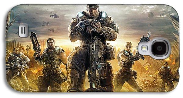Gear Mixed Media Galaxy S4 Cases - Gears Of War Artwork Galaxy S4 Case by Sheraz A
