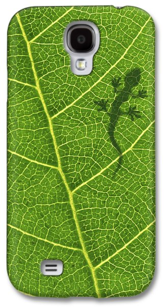 Botanical Digital Art Galaxy S4 Cases - Gecko Galaxy S4 Case by Aged Pixel