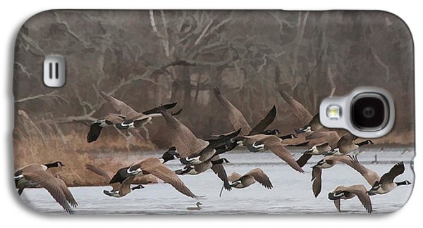 Geese In Flight Galaxy S4 Case by Heidi Piccerelli