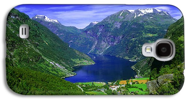 Snow Capped Galaxy S4 Cases - Geirangerfjord, Flydalsjuvet, More Og Galaxy S4 Case by Panoramic Images