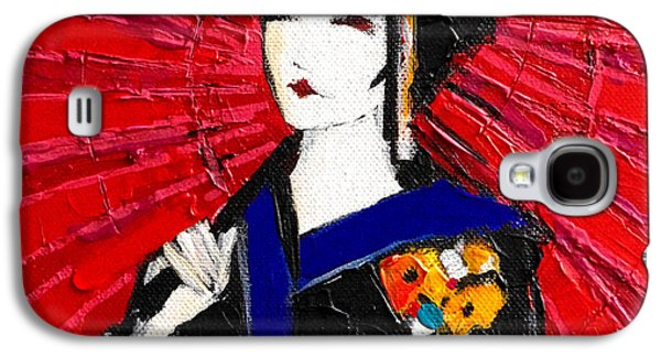 Prostitution Paintings Galaxy S4 Cases - Geisha Galaxy S4 Case by Mona Edulesco