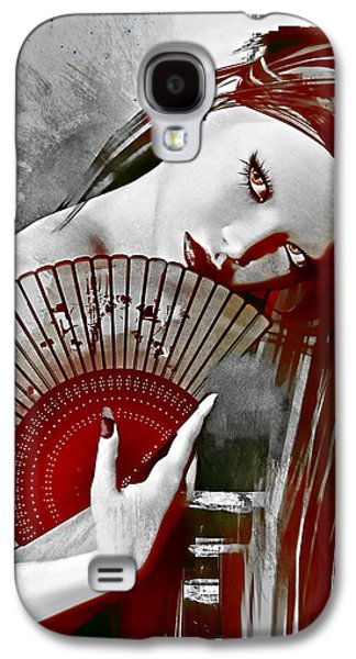 Recently Sold -  - Girl Galaxy S4 Cases - Geisha Red Galaxy S4 Case by Shanina Conway