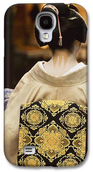 Person Galaxy S4 Cases - Geisha Showing Her Nape Make-up And Obi Galaxy S4 Case by Philippe Widling