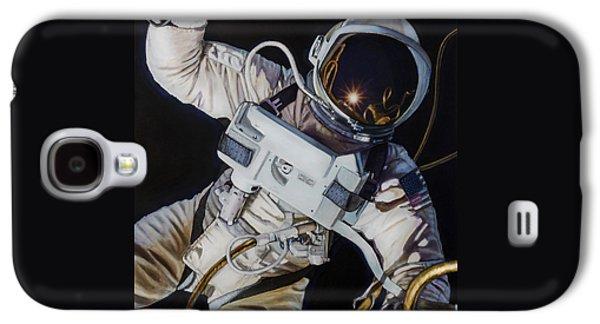 Moon Paintings Galaxy S4 Cases - Gemini IV- Ed White Galaxy S4 Case by Simon Kregar