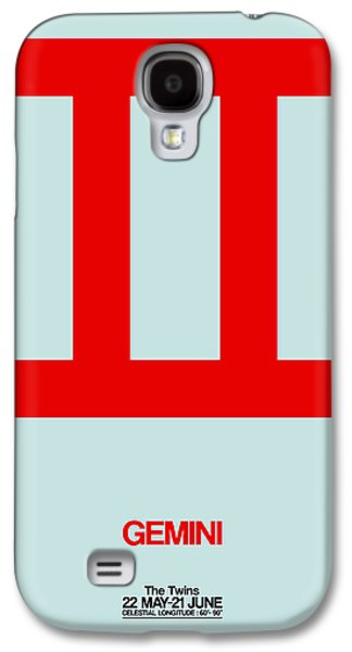 Virgo Galaxy S4 Cases - Gemini Zodiac Sign Red Galaxy S4 Case by Naxart Studio