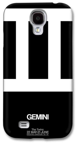 Virgo Galaxy S4 Cases - Gemini Zodiac Sign White Galaxy S4 Case by Naxart Studio