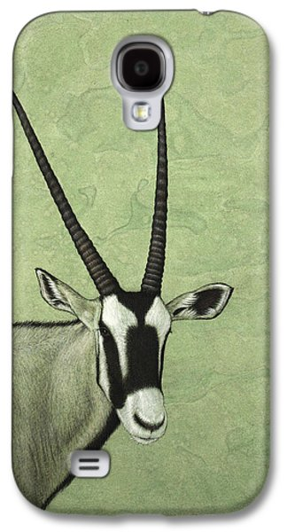 Nature Drawings Galaxy S4 Cases - Gemsbok Galaxy S4 Case by James W Johnson