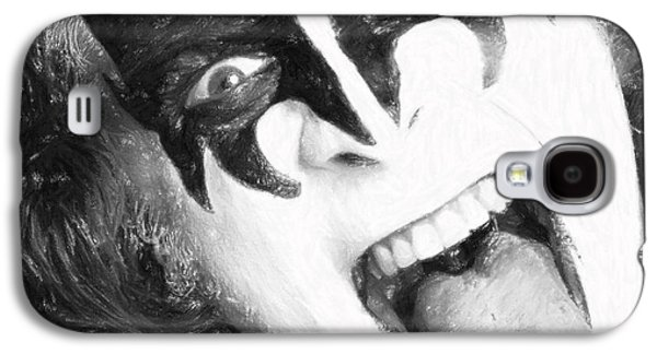 Person Pastels Galaxy S4 Cases - Gene Simmons Galaxy S4 Case by Antony McAulay