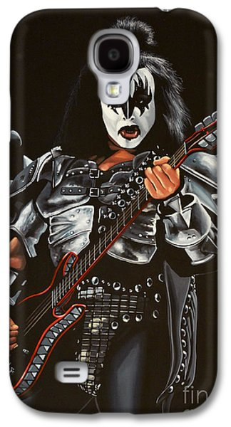 Work Of Art Galaxy S4 Cases - Gene Simmons of Kiss Galaxy S4 Case by Paul Meijering