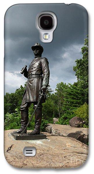 Civil War Battle Site Galaxy S4 Cases - General K Warren Monument Gettysburg Galaxy S4 Case by James Brunker