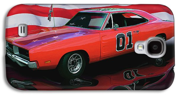 Dukes Of Hazard Show Galaxy S4 Cases - General Lee Galaxy S4 Case by Peter Piatt