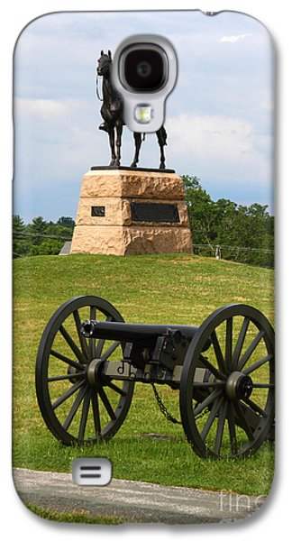 Civil War Battle Site Galaxy S4 Cases - General Meade Monument and Cannon Galaxy S4 Case by James Brunker
