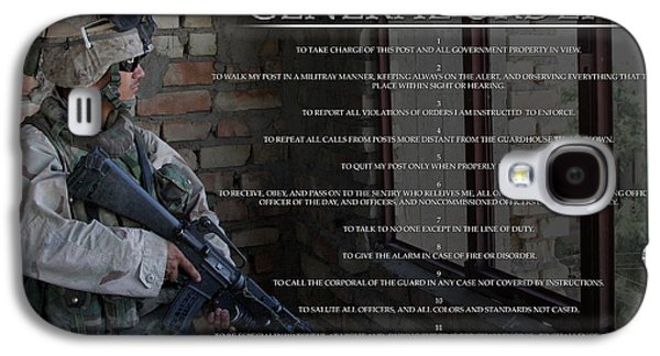 Iraq Posters Galaxy S4 Cases - General Orders Galaxy S4 Case by Annette Redman