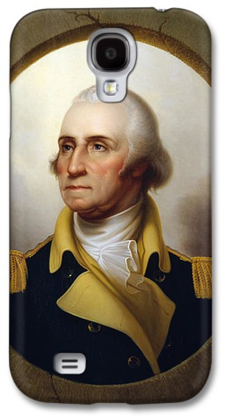 Politicians Paintings Galaxy S4 Cases - General Washington at the Battle of Princeton Galaxy S4 Case by War Is Hell Store