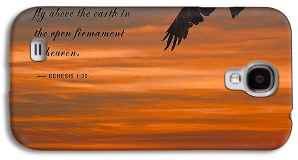 Bible Quotes Galaxy S4 Cases - Genesis 1-20 Scripture Galaxy S4 Case by Daniel Hagerman