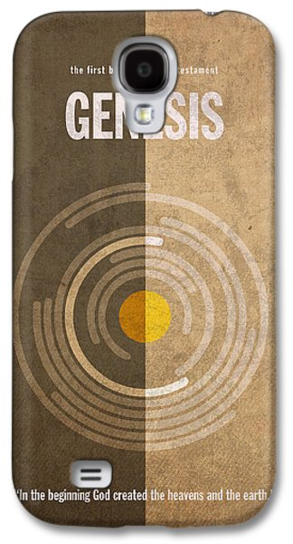 Genesis Books Of The Bible Series Old Testament Minimal Poster Art Number 1 Galaxy S4 Case by Design Turnpike